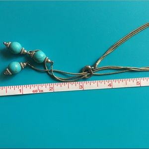 Sterling and turquoise lariat necklace